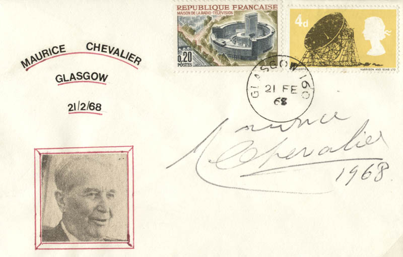Image 1 for Maurice Chevalier - Envelope Signed 1968 - HFSID 100001