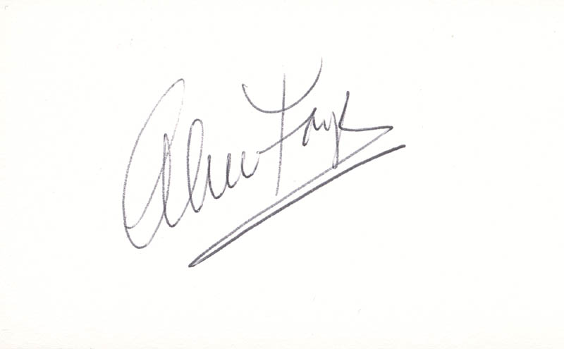 Image 1 for Alice Faye - Autograph - HFSID 100027