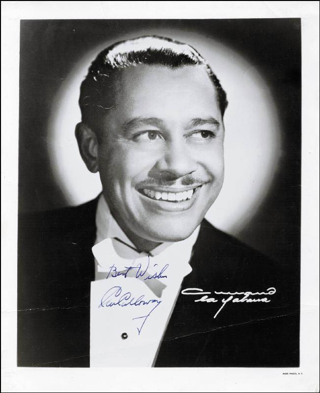 Image 1 for Cab Calloway - Autographed Signed Photograph - HFSID 100162