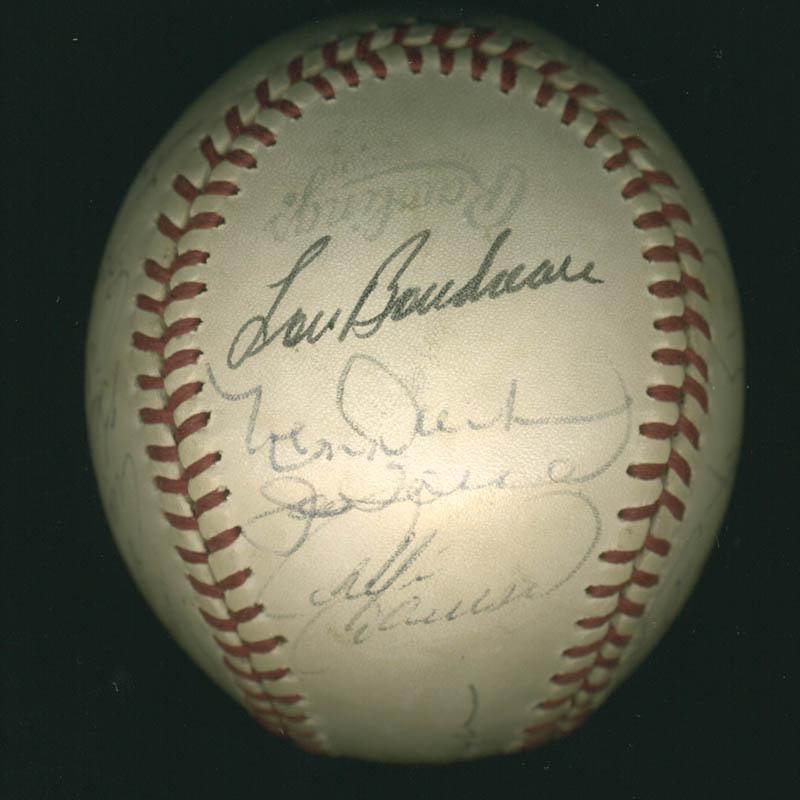 Image 3 for Lou Boudreau - Autographed Signed Baseball with co-signers - HFSID 100437