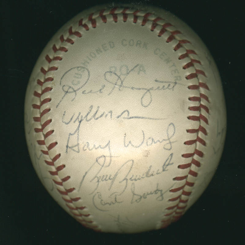 Image 4 for Lou Boudreau - Autographed Signed Baseball with co-signers - HFSID 100437