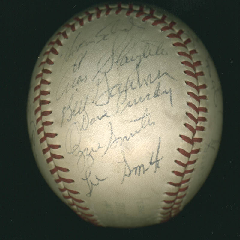 Image 5 for Lou Boudreau - Autographed Signed Baseball with co-signers - HFSID 100437