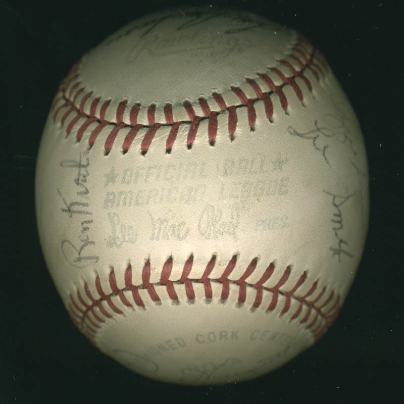 Image 7 for Lou Boudreau - Autographed Signed Baseball with co-signers - HFSID 100437