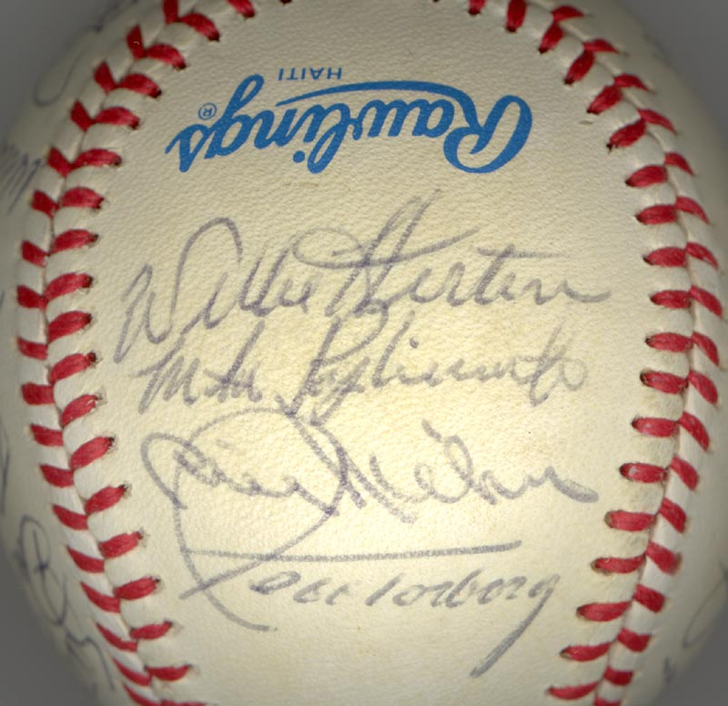 Image 3 for The New York Yankees - Autographed Signed Baseball Circa 1985 with co-signers - HFSID 100440