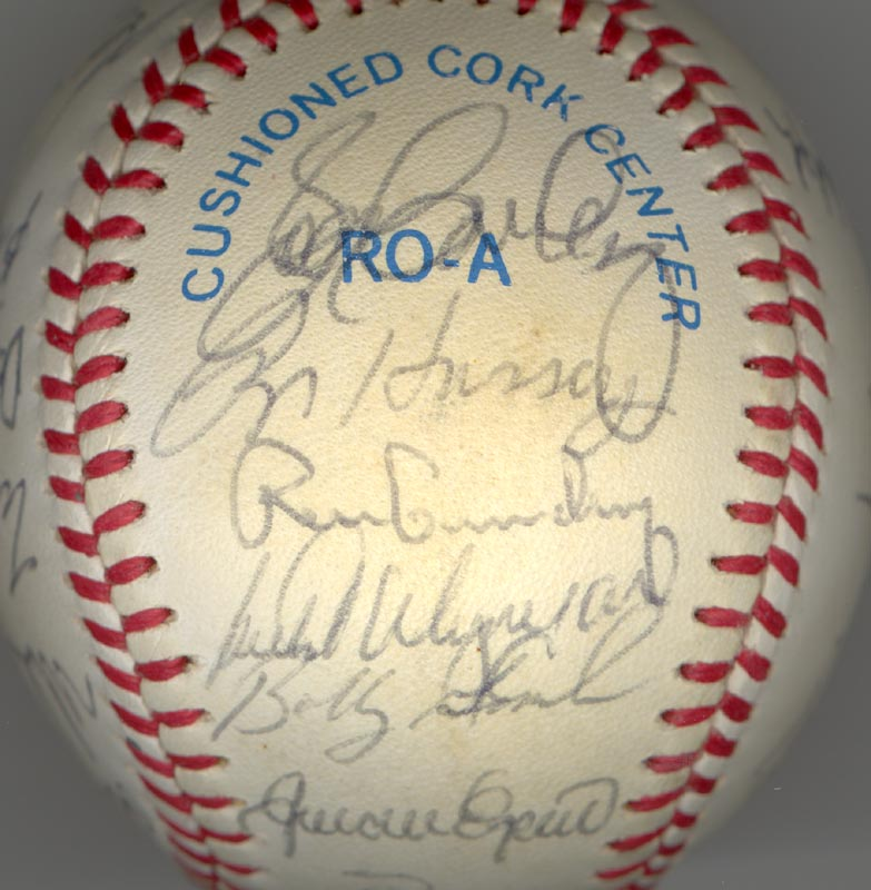 Image 4 for The New York Yankees - Autographed Signed Baseball Circa 1985 with co-signers - HFSID 100440
