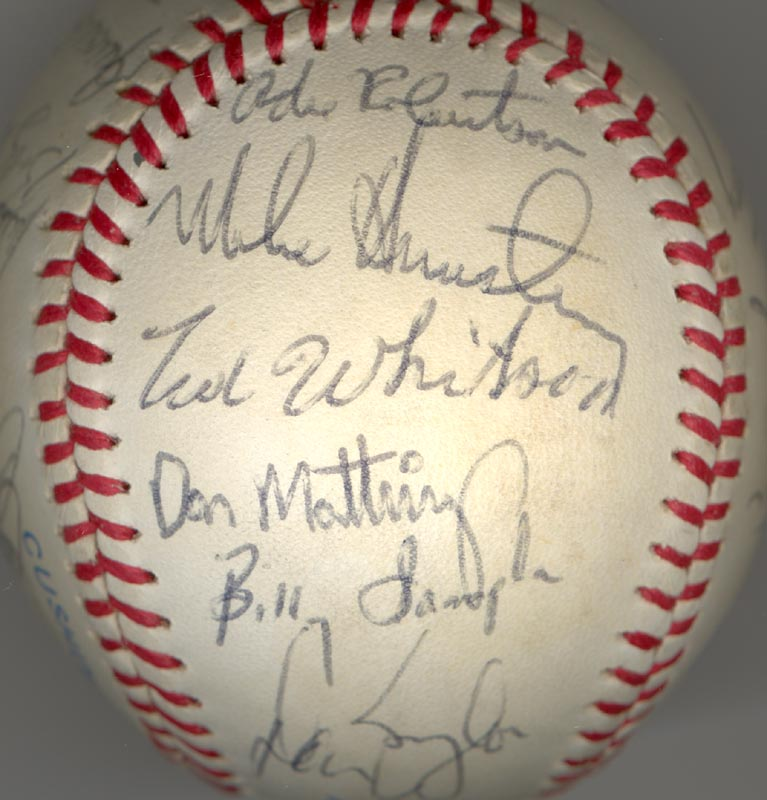 Image 6 for The New York Yankees - Autographed Signed Baseball Circa 1985 with co-signers - HFSID 100440