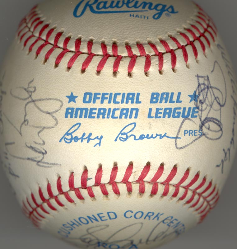 Image 7 for The New York Yankees - Autographed Signed Baseball Circa 1985 with co-signers - HFSID 100440