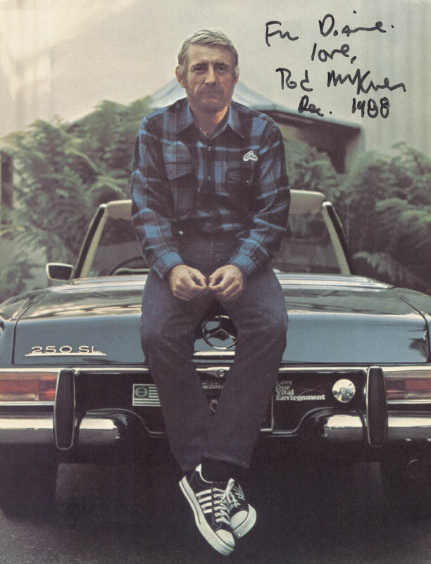 Image 1 for Rod Mckuen - Autographed Inscribed Photograph 12/1988 - HFSID 100463