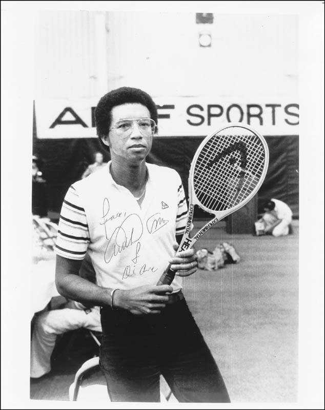 Image 1 for Arthur Ashe - Autographed Signed Photograph - HFSID 100509