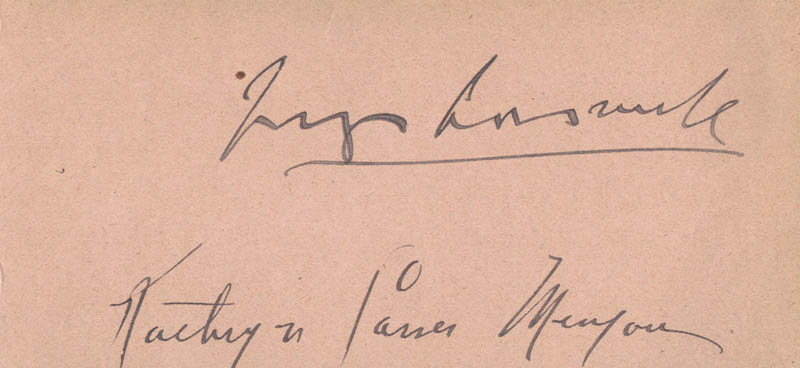Image 3 for Fay Compton - Autograph co-signed by: Kathryn Carver Menjou - HFSID 100524