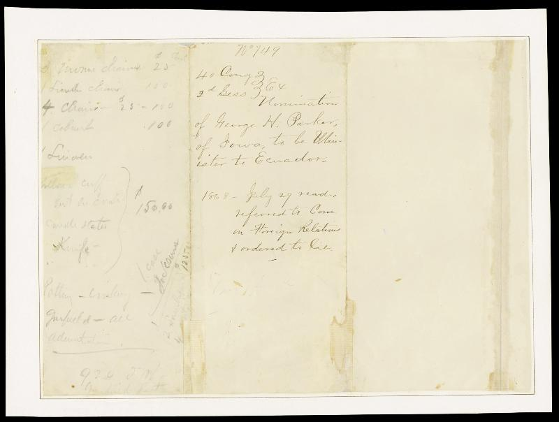 Image 3 for President Andrew Johnson - Manuscript Document Signed 07/25/1868 - HFSID 100624