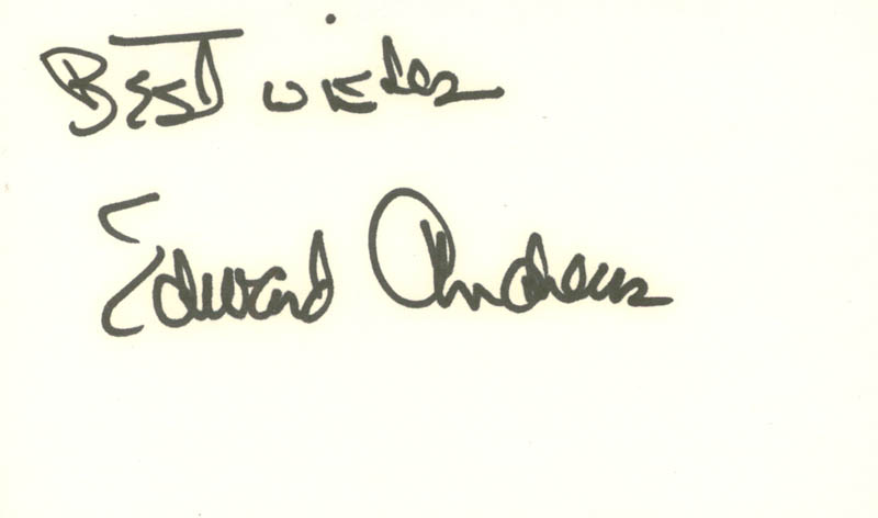 Image 1 for Edward Andrews - Autograph Sentiment Signed - HFSID 100653