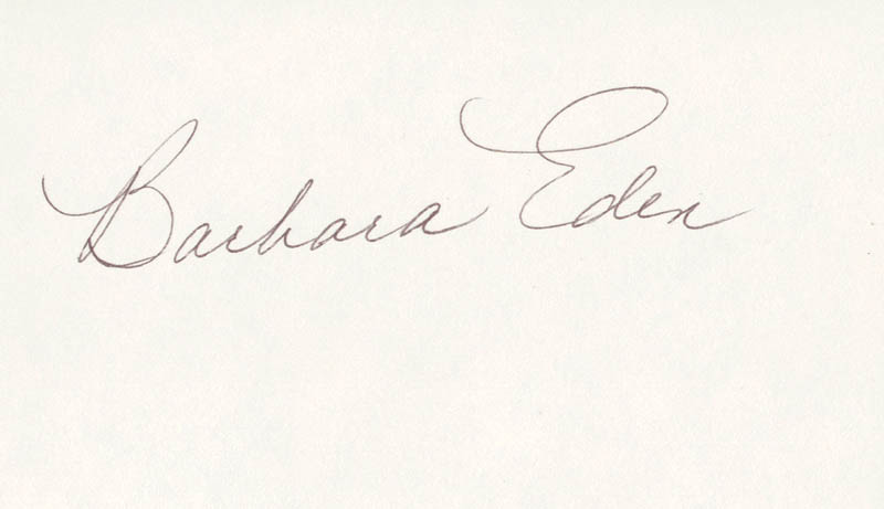 Image 1 for Barbara Eden - Autograph - HFSID 100870