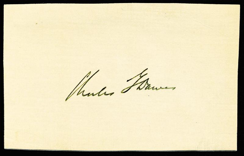 Image 1 for Vice President Charles G. Dawes - Autograph - HFSID 100890