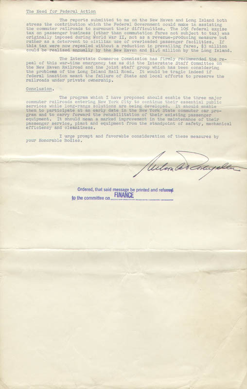 Image 1 for Vice President Nelson A. Rockefeller - Document Signed 03/07/1961 - HFSID 100891