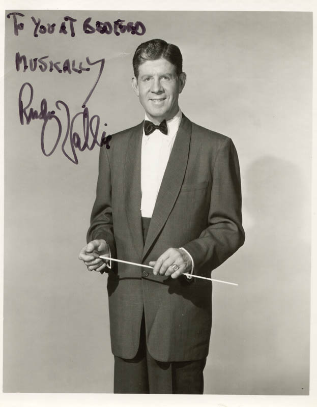 Image 1 for Rudy Vallee - Autographed Inscribed Photograph - HFSID 101163