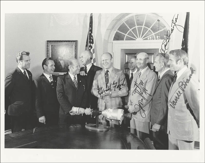 Image 1 for President Gerald R. Ford - Autographed Signed Photograph Circa 1974 with co-signers - HFSID 101198