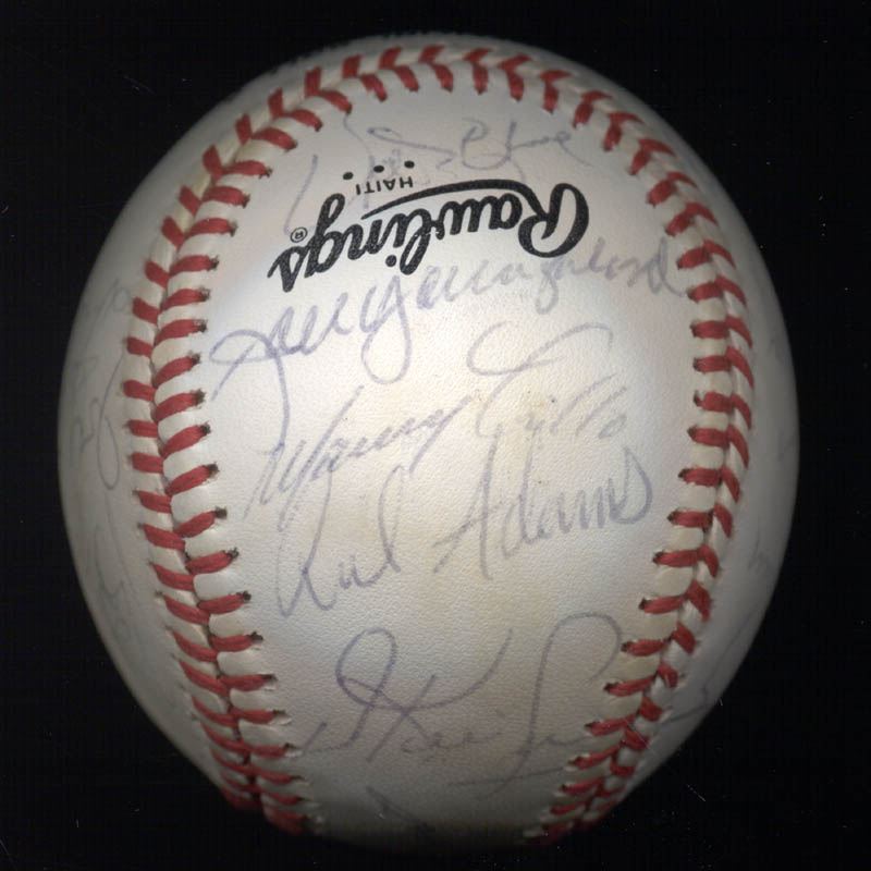 Image 4 for The San Francisco Giants - Autographed Signed Baseball Circa 1985 with co-signers - HFSID 101200