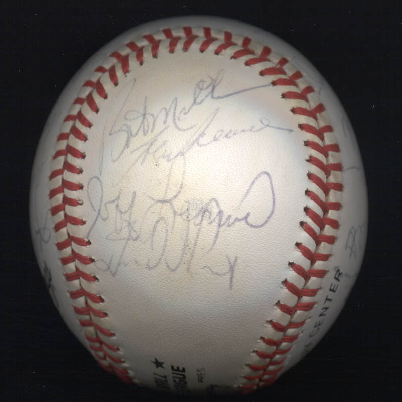 Image 5 for The San Francisco Giants - Autographed Signed Baseball Circa 1985 with co-signers - HFSID 101200