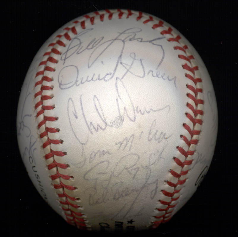 Image 6 for The San Francisco Giants - Autographed Signed Baseball Circa 1985 with co-signers - HFSID 101200