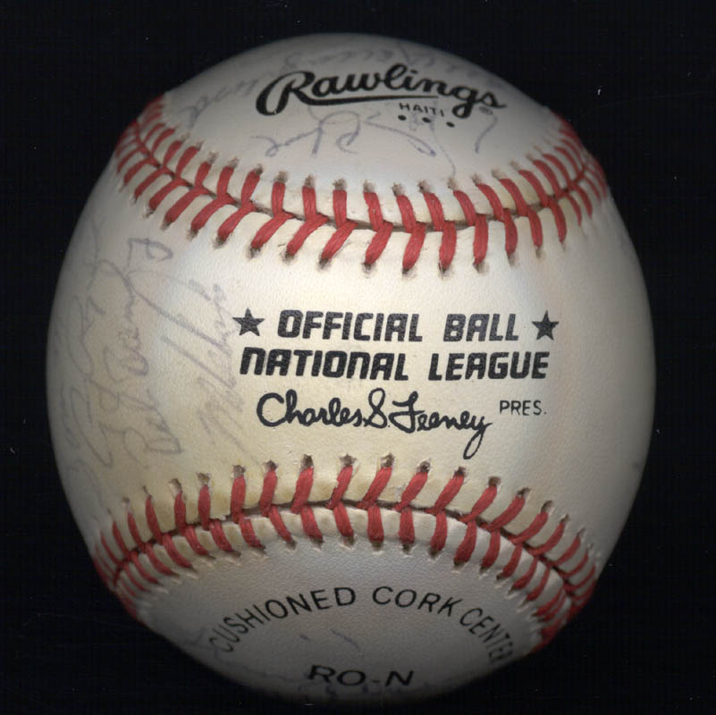 Image 7 for The San Francisco Giants - Autographed Signed Baseball Circa 1985 with co-signers - HFSID 101200