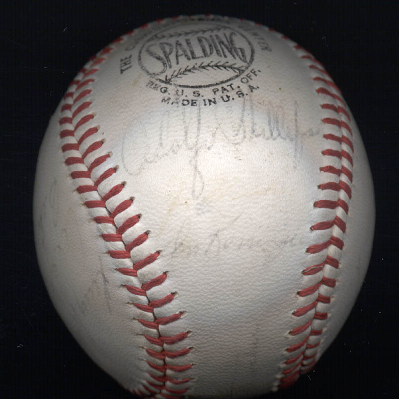Image 4 for The Chicago Cubs - Autographed Signed Baseball Circa 1968 with co-signers - HFSID 101216