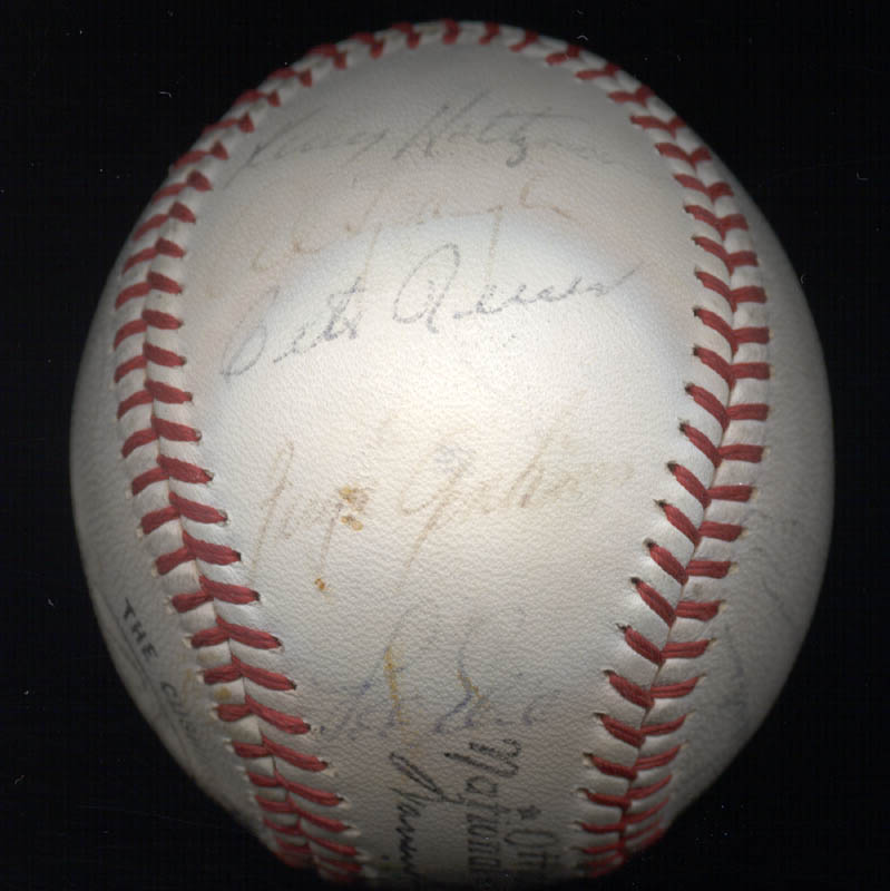 Image 5 for The Chicago Cubs - Autographed Signed Baseball Circa 1968 with co-signers - HFSID 101216