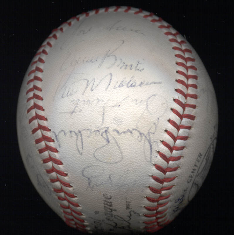 Image 6 for The Chicago Cubs - Autographed Signed Baseball Circa 1968 with co-signers - HFSID 101216