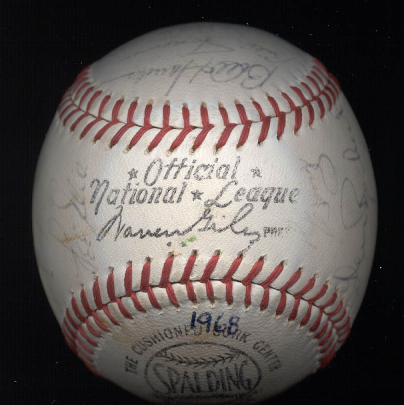 Image 7 for The Chicago Cubs - Autographed Signed Baseball Circa 1968 with co-signers - HFSID 101216