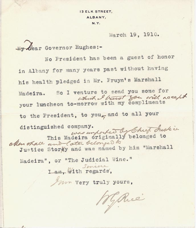 Image 3 for Chief Justice Charles E Hughes - Typed Letter Signed 03/21/1910 - HFSID 101297