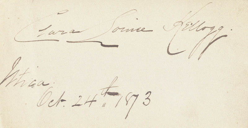 Image 1 for Clara Louise Kellogg - Autograph 10/24/1873 - HFSID 101688