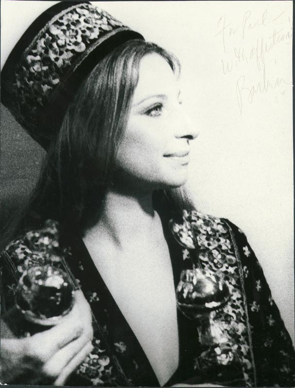 Image 1 for Barbra Streisand - Autographed Inscribed Photograph - HFSID 101836