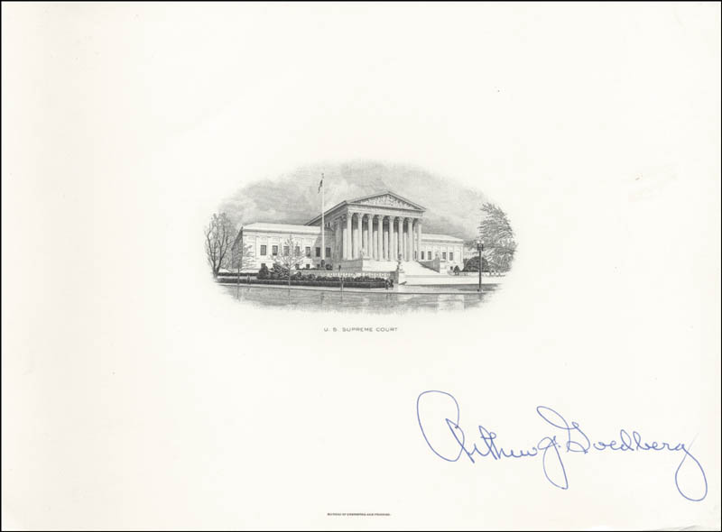 Image 1 for Associate Justice Arthur J. Goldberg - Engraving Signed - HFSID 101942