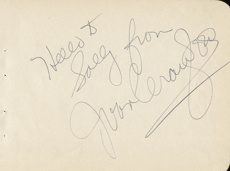 Image 1 for Joan Crawford - Inscribed Signature - HFSID 101948