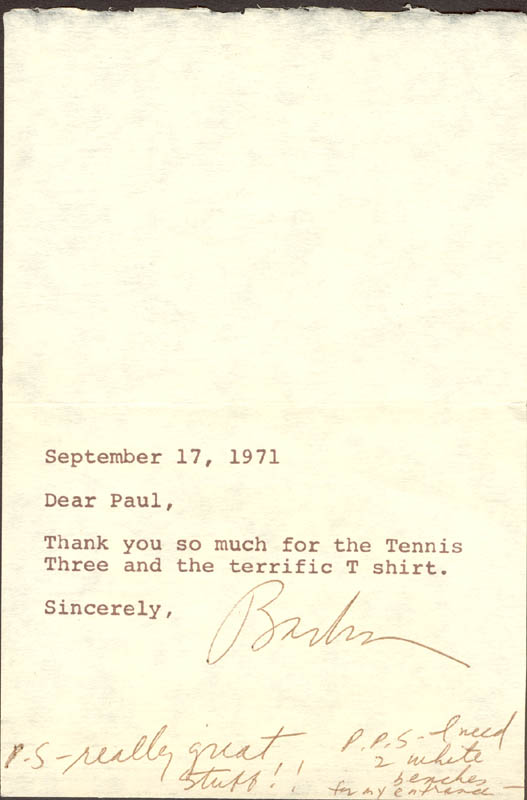 Image 1 for Barbra Streisand - Autograph Note Signed 09/17/1971 - HFSID 101991