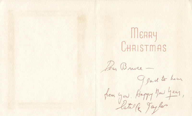 Image 1 for Estelle Taylor - Christmas / Holiday Card Signed - HFSID 102001