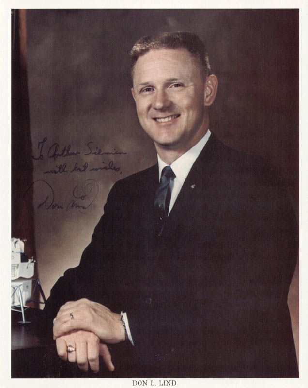 Image 1 for Commander Don L. Lind - Autographed Inscribed Photograph - HFSID 102062
