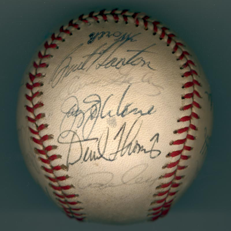 Image 3 for The Los Angeles Dodgers - Autographed Signed Baseball Circa 1981 with co-signers - HFSID 102134