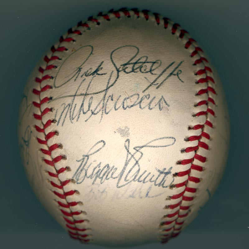 Image 4 for The Los Angeles Dodgers - Autographed Signed Baseball Circa 1981 with co-signers - HFSID 102134