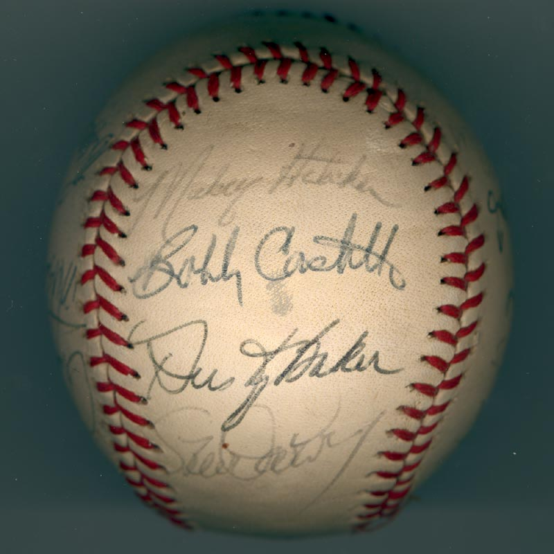 Image 5 for The Los Angeles Dodgers - Autographed Signed Baseball Circa 1981 with co-signers - HFSID 102134