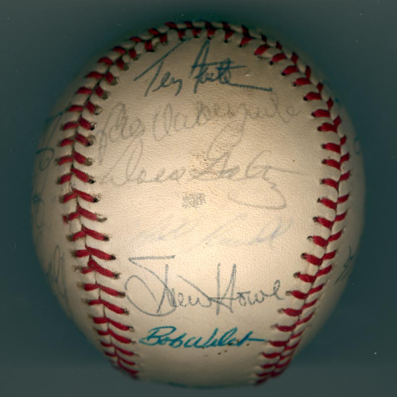 Image 6 for The Los Angeles Dodgers - Autographed Signed Baseball Circa 1981 with co-signers - HFSID 102134