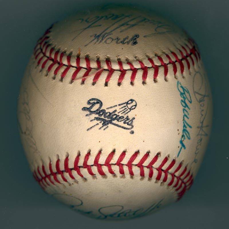 Image 7 for The Los Angeles Dodgers - Autographed Signed Baseball Circa 1981 with co-signers - HFSID 102134