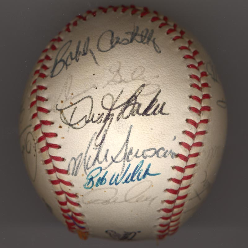 Image 3 for The Los Angeles Dodgers - Autographed Signed Baseball Circa 1981 with co-signers - HFSID 102135