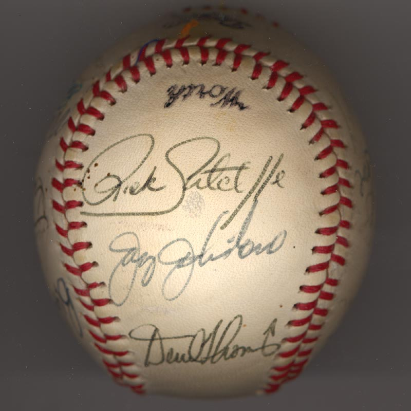 Image 5 for The Los Angeles Dodgers - Autographed Signed Baseball Circa 1981 with co-signers - HFSID 102135