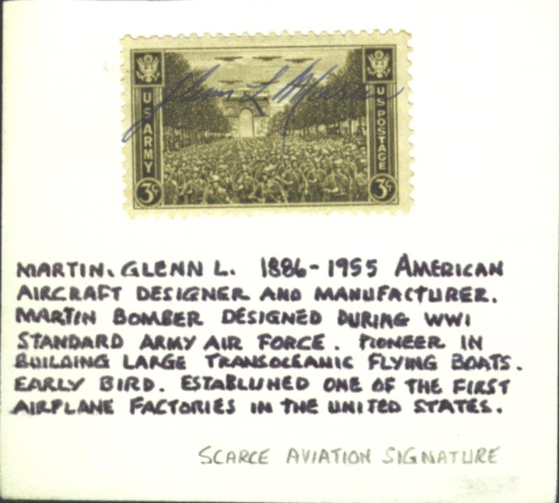 Image 1 for Glenn L. Martin - Stamp(s) Signed - HFSID 102217