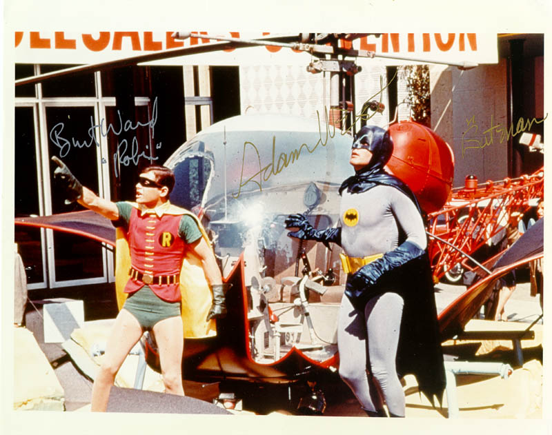 Image 1 for Batman TV Cast - Autographed Signed Photograph co-signed by: Burt Ward, Adam West - HFSID 102250