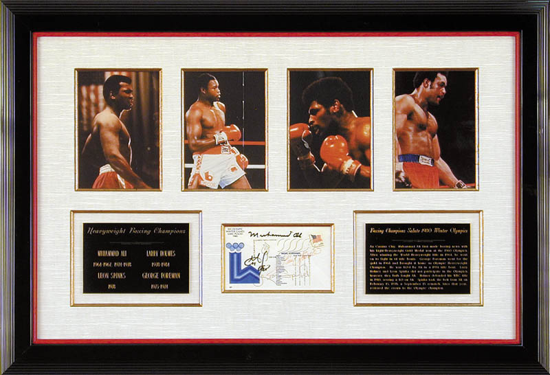Image 1 for Muhammad 'The Greatest' Ali - Commemorative Envelope Signed co-signed by: George Foreman, Leon Spinks, Larry Holmes - HFSID 102335