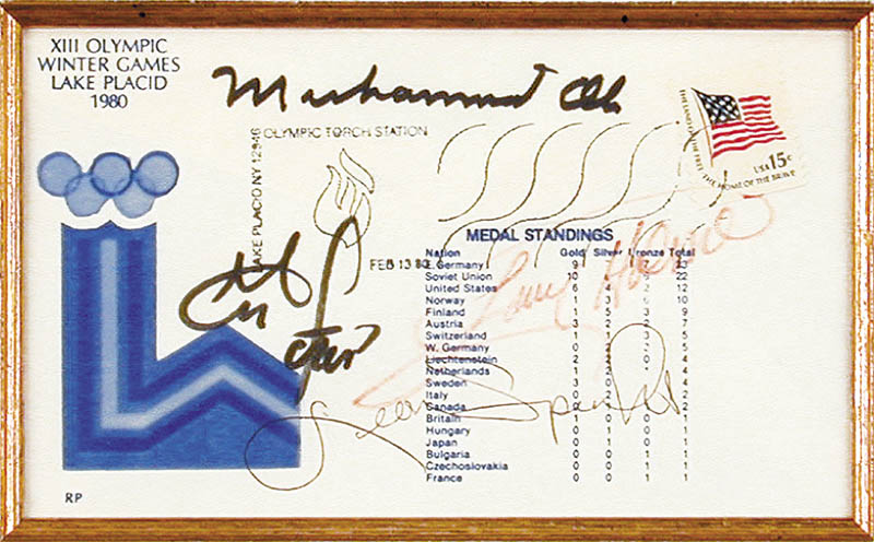 Image 3 for Muhammad 'The Greatest' Ali - Commemorative Envelope Signed co-signed by: George Foreman, Leon Spinks, Larry Holmes - HFSID 102335