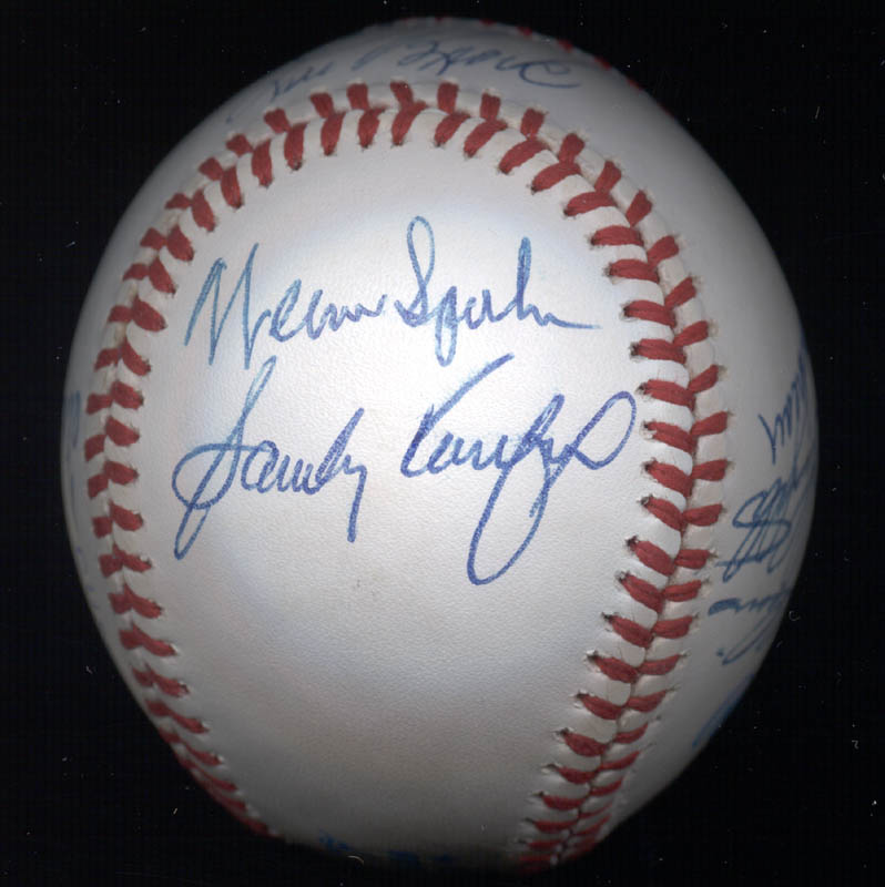 Image 6 for Al 'Mr. Tiger' Kaline - Autographed Signed Baseball with co-signers - HFSID 102349