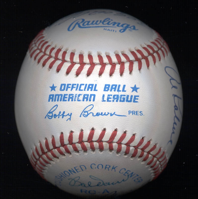 Image 7 for Al 'Mr. Tiger' Kaline - Autographed Signed Baseball with co-signers - HFSID 102349